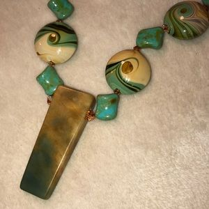 Natural Stone necklace Excellent Condition
